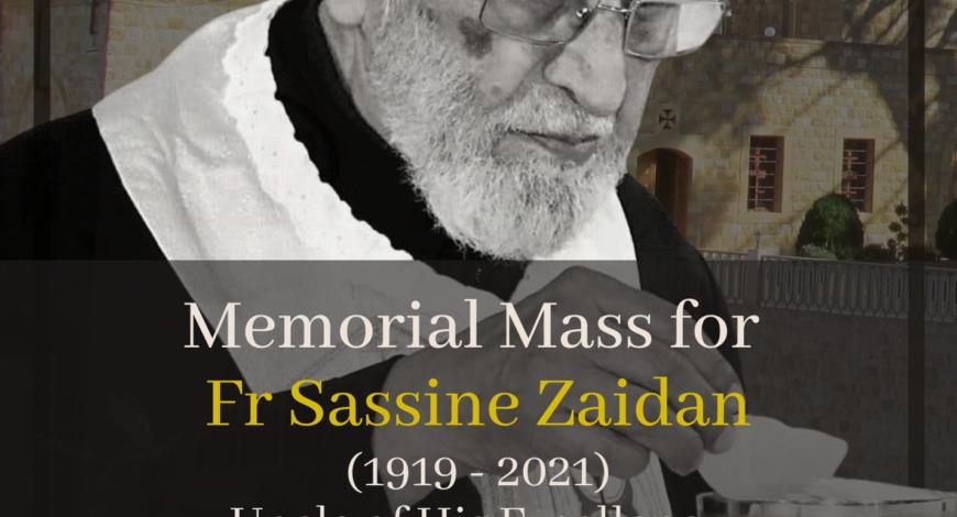Memorial Mass for Fr. Sassine Zaidan