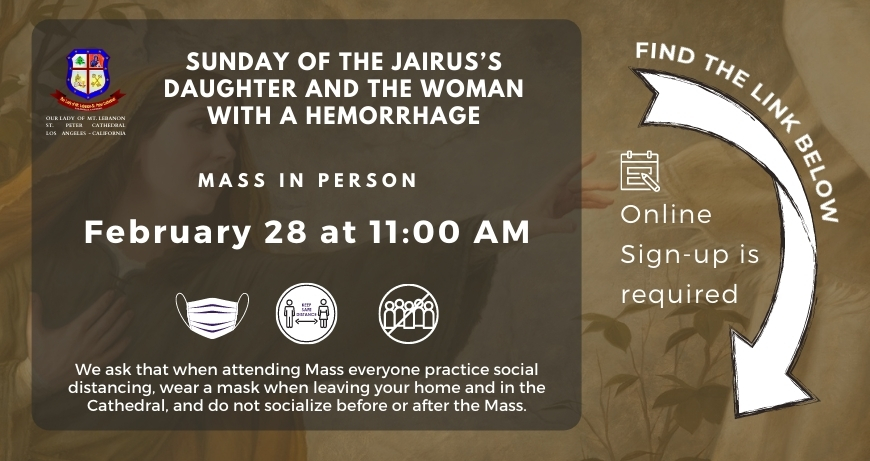 SUNDAY OF the Jairus's Daughter and the Woman with a Hemorrhage